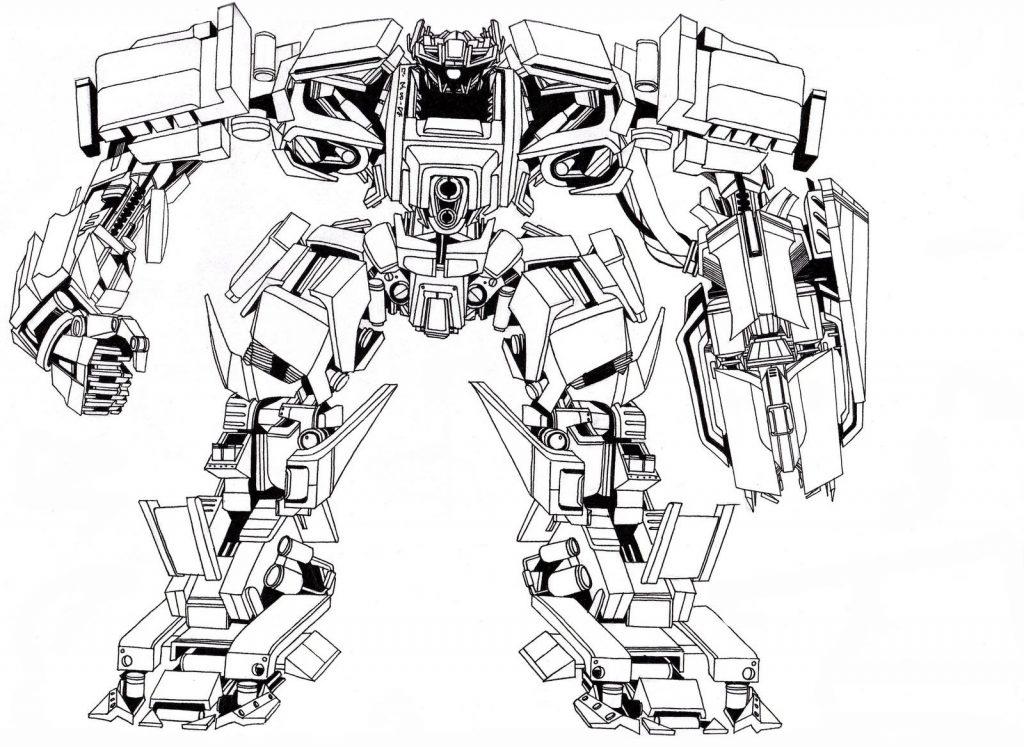 Раскраска «Трансформер» Битва трансформеров, чтобы распечатать