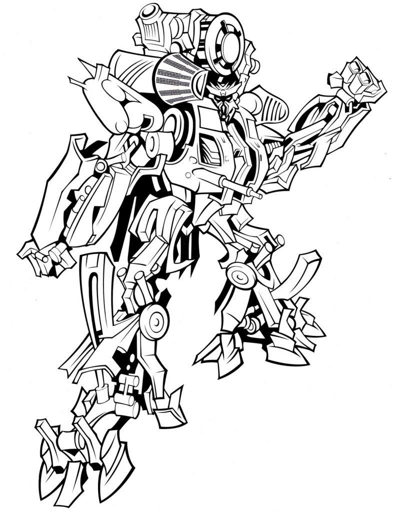 Раскраска «Трансформер» Трансформеры кибервселенная, чтобы распечатать