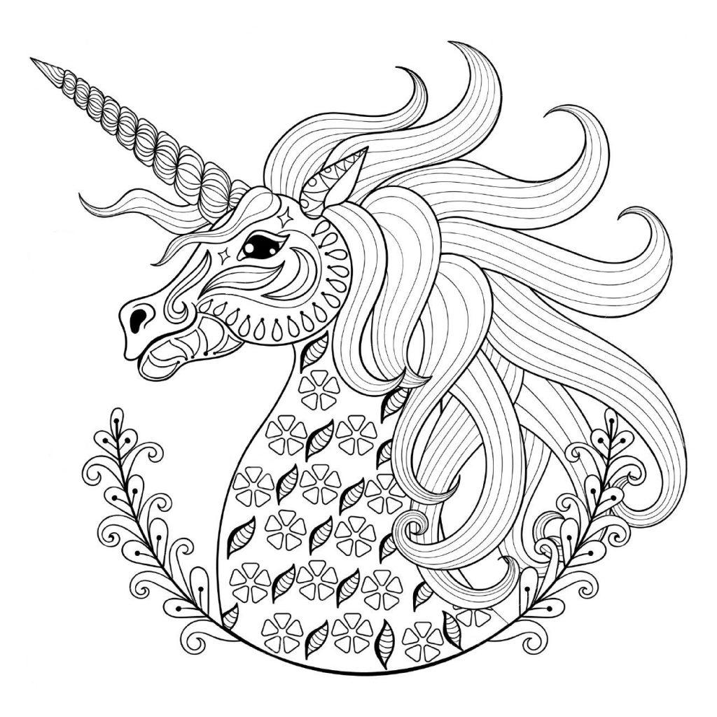 Единорожка - Единороги - Раскраски антистресс