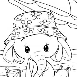 Раскраски малашки «Слоненок», чтобы бесплатно распечатать