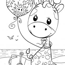 Раскраски малашки «Жирафик», чтобы бесплатно распечатать