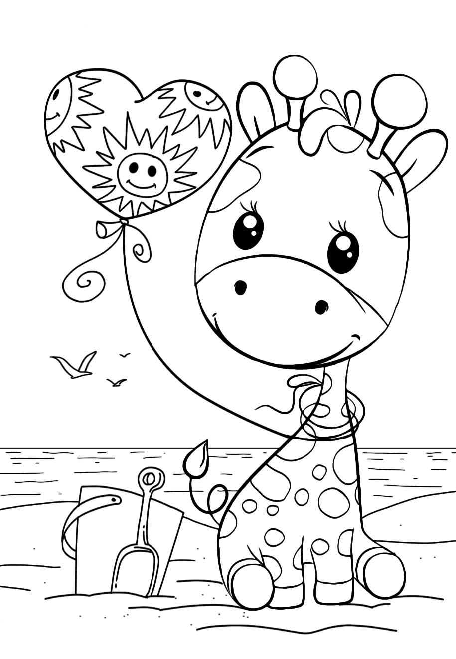 Жирафик - Милашки - Раскраски антистресс