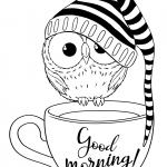 Раскраски малашки «Доброе утро», чтобы бесплатно распечатать