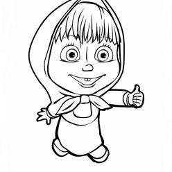 Раскраска из мультфильма «Маша и Медведь», чтобы распечатать