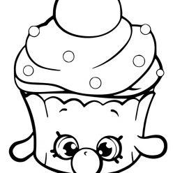 Раскраска для девочек «Шопкинс Кекс», чтобы распечатать