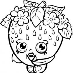 Раскраска для девочек «Шопкинс Клубника», чтобы распечатать