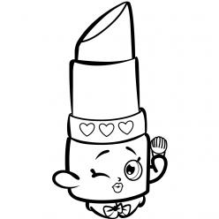 Раскраска для девочек «Шопкинс Помада», чтобы распечатать