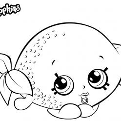 Раскраска для девочек «Шопкинс Лимон», чтобы распечатать