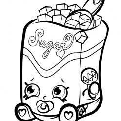 Раскраска для девочек «Шопкинс Сахар», чтобы распечатать