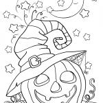 Раскраска «Тыква на хэллоуин», чтобы распечатать в хорошем качестве