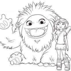 Раскраски мультфильм Эверест, чтобы бесплатно распечатать