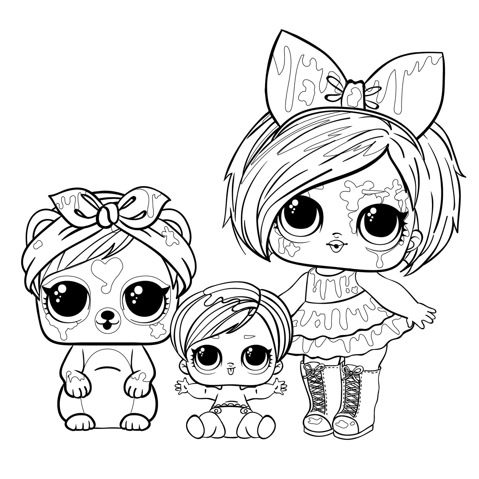 Кукла ЛОЛ Клякса с питомцем и сестричкой - Куклы LOL ...