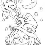 Раскраска «Летучая мышь на хэллоуин», чтобы распечатать в хорошем качестве