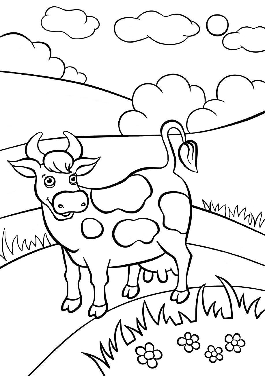 Корова - Животные - Раскраски антистресс