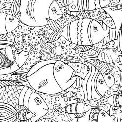 Раскраски животных для детей «Рыбы», чтобы распечатать и раскрасить
