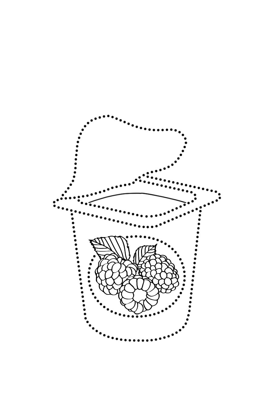 Йогурт по точкам - Рисуем по точкам - Раскраски антистресс