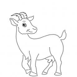 Раскраска развитие моторики Животные «рисуем по точкам», чтобы распечатать в хорошем качестве