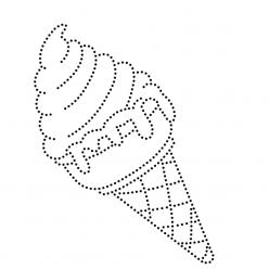 Раскраски Мороженое по точкам, чтобы распечатать в хорошем качестве