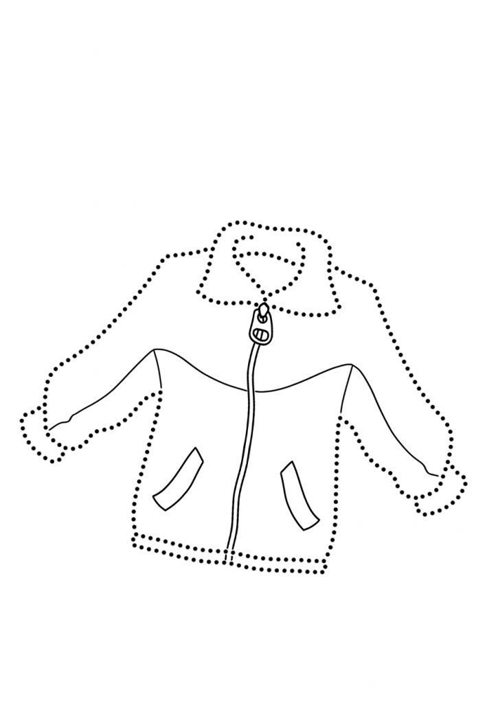 Раскраски Одежда по точкам, чтобы распечатать в хорошем качестве