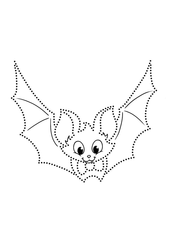 Летучая мышь по точкам - Рисуем по точкам - Раскраски ...