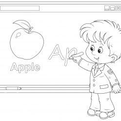Раскраски «Школа» На уроке английского, чтобы бесплатно распечатать А4