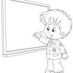Раскраски «Школа» Школьник, чтобы бесплатно распечатать А4