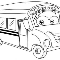 Раскраски «Школа» Школьный автобус, чтобы бесплатно распечатать А4