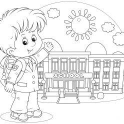 Раскраски «Школа» День знаний, чтобы бесплатно распечатать А4