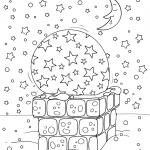 Раскраски «Новый год» Новогодняя крыша, чтобы бесплатно распечатать А4
