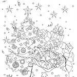 Раскраски «Новый год» Новогодняя ночь, чтобы бесплатно распечатать А4