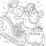 Раскраски «Новый год» Сани деда мороза, чтобы бесплатно распечатать А4