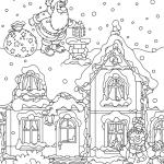 Раскраски «Новый год», чтобы бесплатно распечатать А4