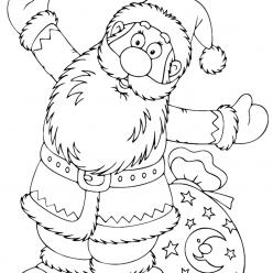 Раскраски «Новый год» С новым годом!, чтобы бесплатно распечатать А4