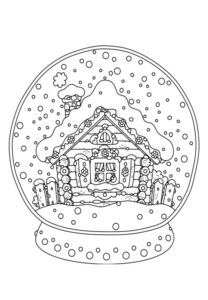 Раскраски «Новый год» Стеклянный шар, чтобы бесплатно распечатать А4