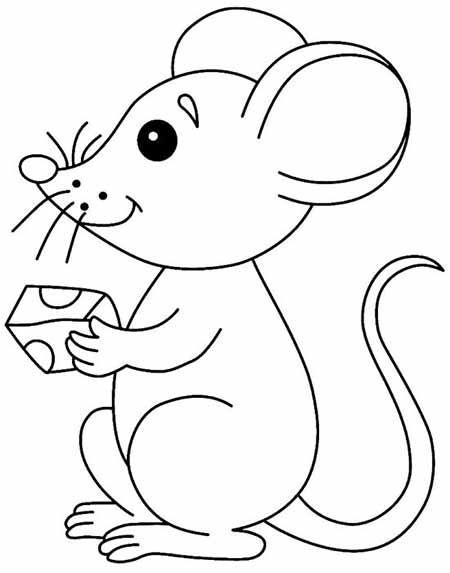 Картинка Мышка, чтобы распечатать в хорошем качестве А4