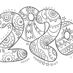 Раскраски «Новый год» Цифры 2020, чтобы бесплатно распечатать А4