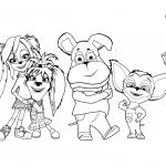 Раскраска для детей из мультфильма «Барбоскины», чтобы распечатать бесплатно в хорошем качестве А4