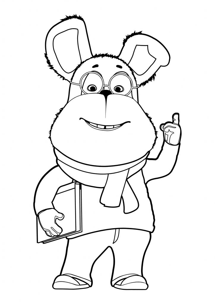 Раскраска для детей из мультфильма «Барбоскины» Гена, чтобы распечатать в хорошем качестве А4