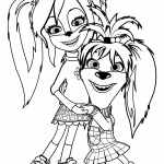 Раскраска для детей из мультфильма «Барбоскины» Сестры Барбоскины, чтобы распечатать в хорошем качестве А4
