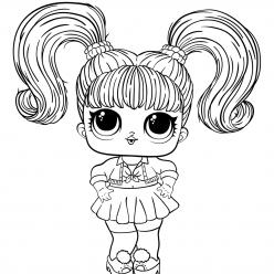 Картинка кукла лол новая с волосами, чтобы распечатать в хорошем качестве А4