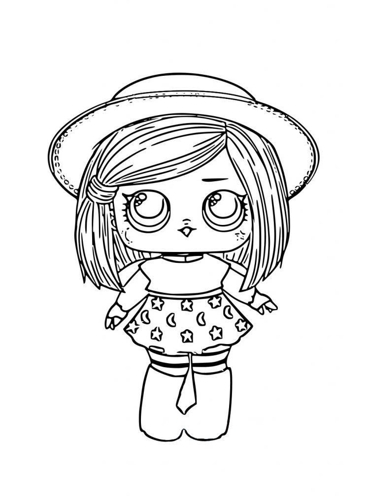 ЛОЛ Ведьмочка в шляпке - Куклы LOL - Раскраски антистресс