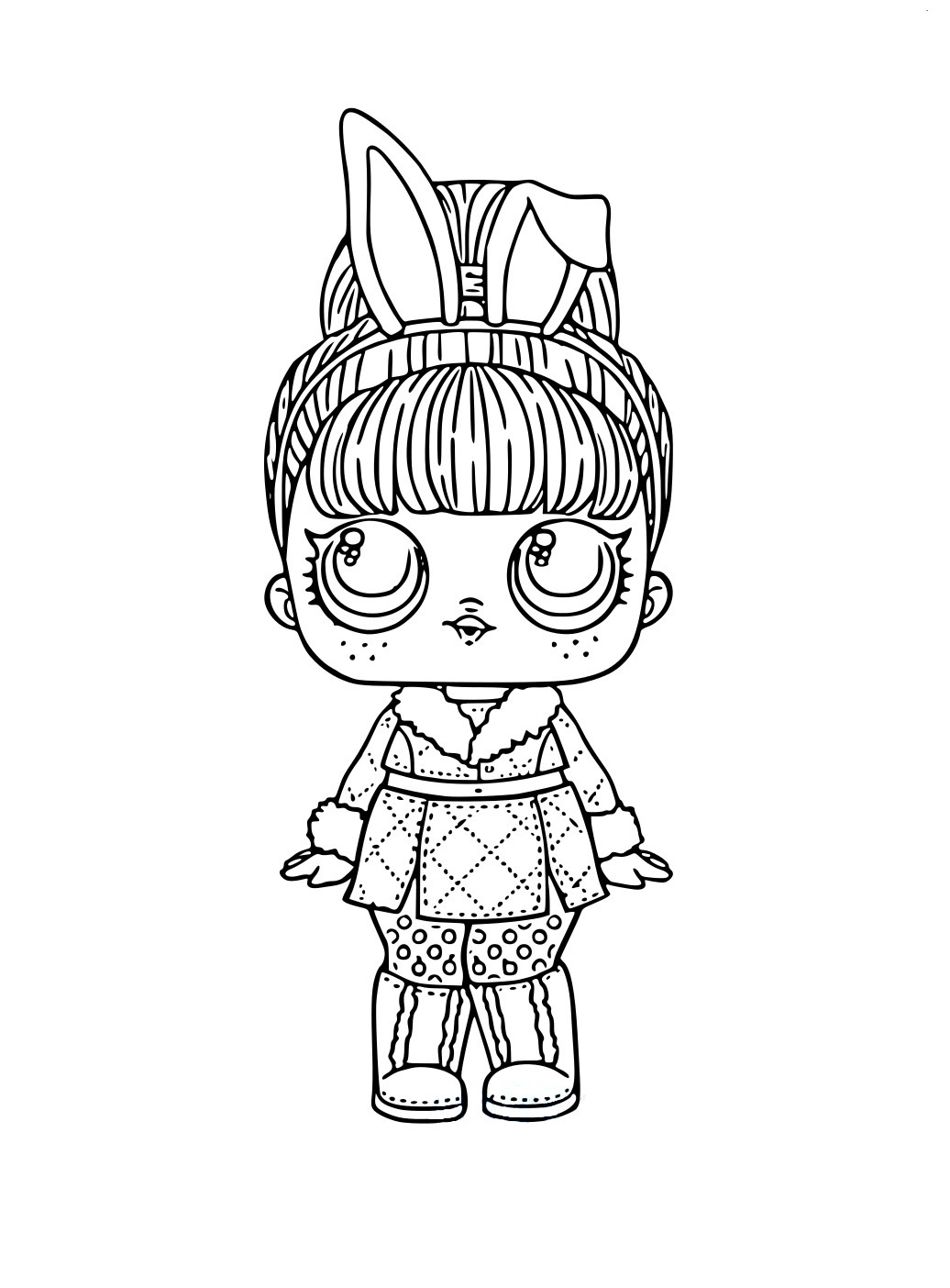 ЛОЛ Snow Bunny с волосами - Куклы LOL - Раскраски антистресс