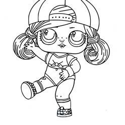 Раскраска для девочек ЛОЛ Хаир Гоалс, чтобы распечатать в хорошем качестве А4