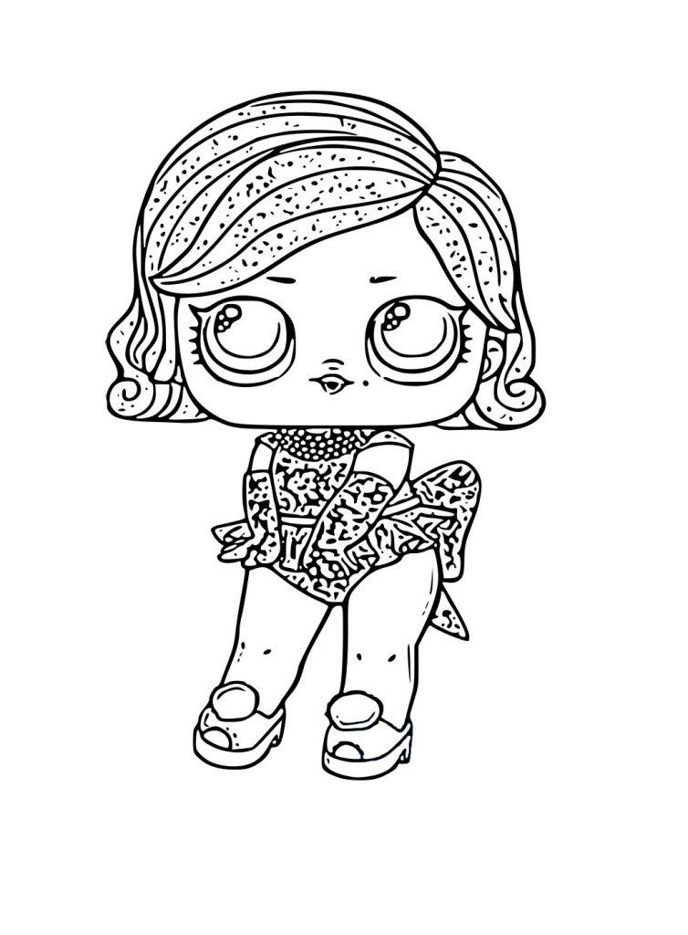 Раскраска для девочек ЛОЛ блестящая, чтобы распечатать в хорошем качестве А4