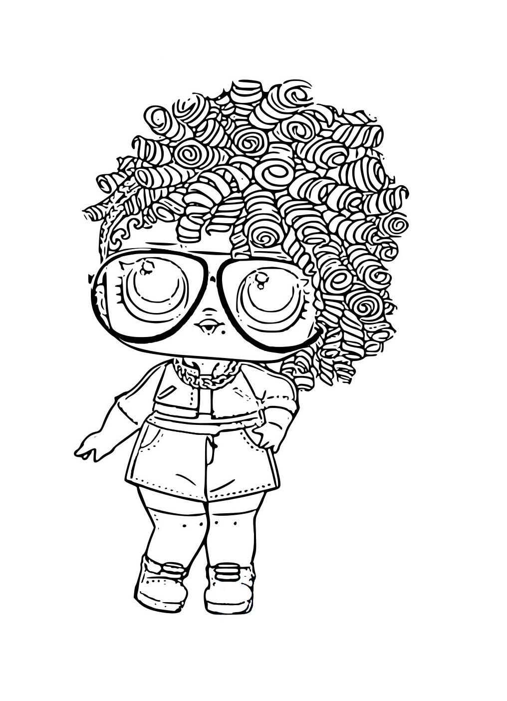 ЛОЛ серия с волосами - Куклы LOL - Раскраски антистресс