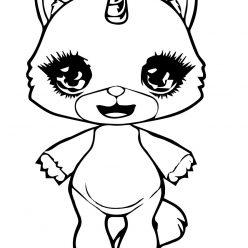 Раскраска для девочек Пупси слайм кошечка, чтобы распечатать в хорошем качестве А4