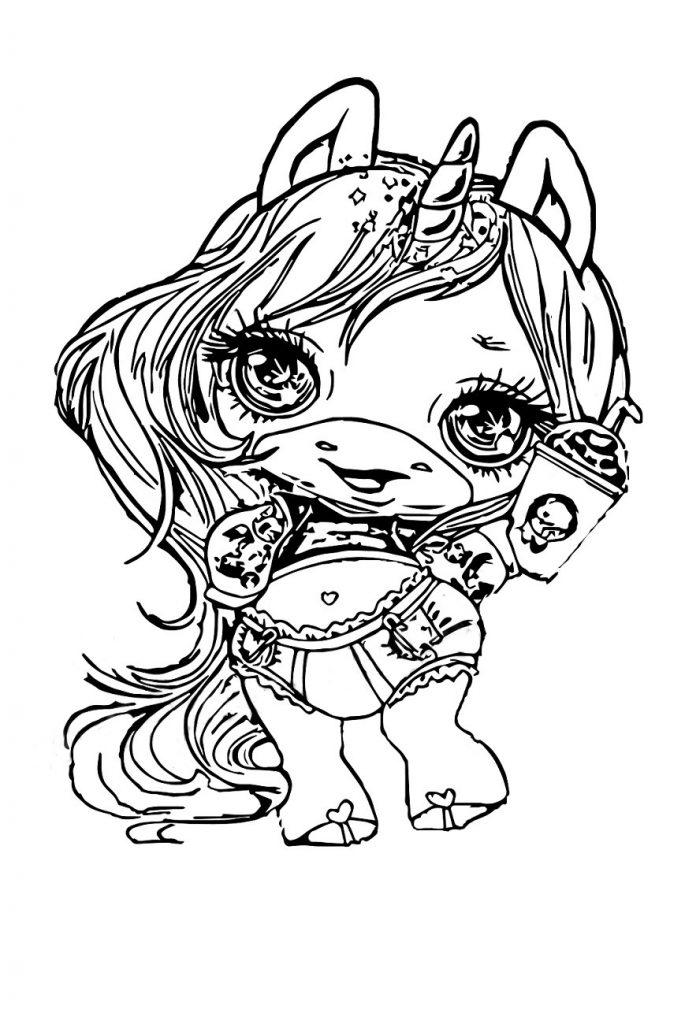Раскраска для девочек Пупси Слайм, чтобы распечатать в хорошем качестве А4