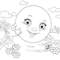 Раскраска из сказки «Колобок», чтобы бесплатно распечатать А4 для детей