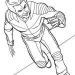Раскраска для мальчиков супергерои «Марвел» Росомаха, чтобы распечатать бесплатно в хорошем качестве А4
