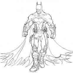 Раскраска для мальчиков супергерои «Марвел» Супергерой Бетмен, чтобы распечатать бесплатно в хорошем качестве А4